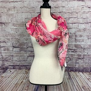 Chico's Pink Paisley Print Scarf